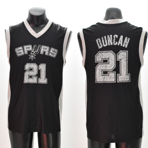 meet 49346 04ee6 Men's NBA Spurs Duncan #21 Jersey Medium